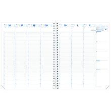 QUO VADIS Kalender Eurequart 24 x 30 cm 1 Woche auf 2 Seiten 2020 sortiert