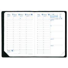 QUO VADIS Kalender Geschäftbus 10 x 15 cm 1 Woche auf 2 Seiten 2019 schwarz