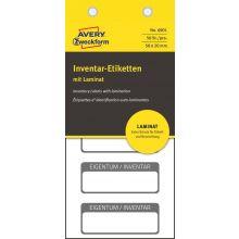 AVERY ZWECKFORM Inventaretiketten 6901 50 Stück mit Laminat weiß/schwarz
