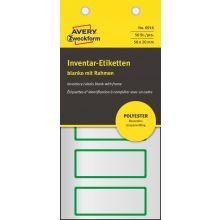 AVERY ZWECKFORM Inventaretiketten 6916 50 Stück 50 x 20mm blanko silber/grün