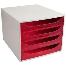 EXACOMPTA Schubladenbox Multiform 228654D A4 grau/pink