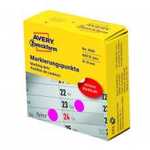 AVERY ZWECKFORM Markierungspunkte 3850 800 Stück permanent Ø 10 mm magenta