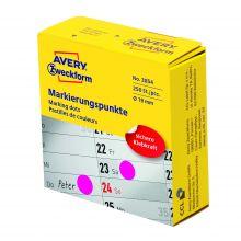 AVERY ZWECKFORM Markierungspunkte 3854 250 Stück permanent Ø 19 mm magenta