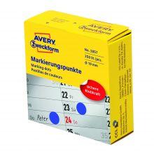 AVERY ZWECKFORM Markierungspunkte 3857 250 Stück permanent Ø 19 mm blau
