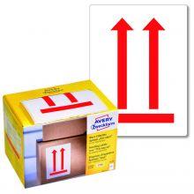 """AVERY ZWECKFORM Warnetiketten 7250 200 Etiketten """"Hier oben"""" 74 x 100 mm rot"""