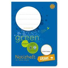 URSUS GREEN Notizheft A6 16 Blatt liniert
