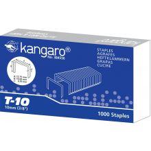 KANGARO Heftklammern T-10 1000 Stück 10 Blatt silber