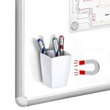 CEP Stifteköcher mit 2 Fächern magnetisch weiß