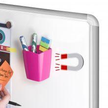 CEP Stifteköcher mit 2 Fächern magnetisch pink