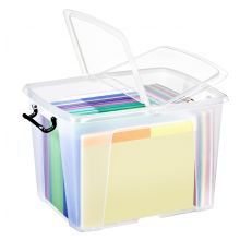 CEP Aufbewahrungsbox Strata mit Doppelklappdeckel 40 Liter transparent