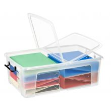 CEP Aufbewahrungsbox Strata mit Doppelklappdeckel 50 Liter transparent