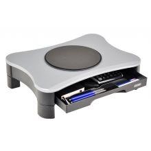 DESQ Monitorständer 1531 mit Schublade drehbar grau