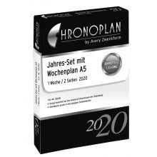 AVERY ZWECKFORM Jahresset Wochenplan Chronoplan 50290 DIN A5 202 Blatt für 2020