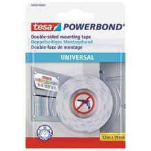 TESA Montageband Powerbond Universal doppelseitig klebend 19 mm x 1,5 m weiß