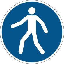 DURABLE Sicherheitskennzeichen 1731 Fußgängerweg benutzen blau
