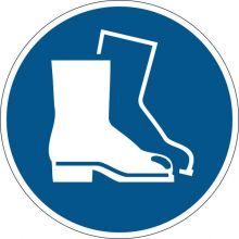 DURABLE Sicherheitskennzeichen 1733 Fußschutz benutzen blau