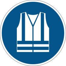 DURABLE Sicherheitskennzeichen 1735 Warnweste benutzen blau