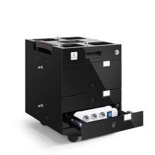 MORESY Officemodul MO3 mit 3 Schubladen und Stromversorgung schwarz