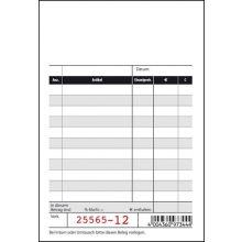 SIGEL Kassenblock KC620 2 x 50 Blatt mit Additionspapier und Blaupapier 100 x 165 mm