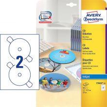 AVERY ZWECKFORM CD-Etiketten C9660-25 50 Etiketten Ø 117 mm weiß