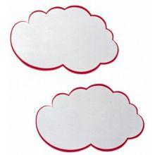 FRANKEN Moderationskarten UMZW 20 Stück 25 x 42 cm in Wolkenform weiß
