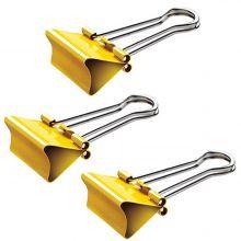 MAUL Foldbackklemmer 214 mauly 12 Stück 19 mm gelb