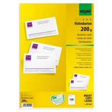 SIGEL Visitenkarten DP839 150 Stück 200 g/m² satiniert hochweiß