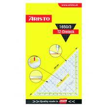 ARISTO TZ-Dreieck 1650/3 mit Griff und Gitternetz 22,5 cm