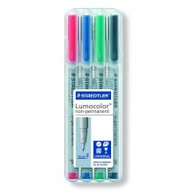 STAEDTLER OHP-Stift Lumocolor 316WP4 4 Stück non-permanent F 0,6 mm farbig sortiert
