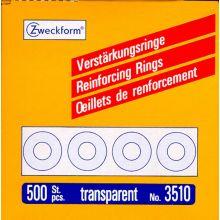 AVERY ZWECKFORM Verstärkungsringe 3510 500 Stück Ø 1,3 cm transparent
