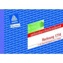 AVERY ZWECKFORM Rechnung 1714 A6 quer 2x40 Blatt selbstdurchschreibend