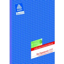 AVERY ZWECKFORM Bautagesbericht 1777 A4 3 x 40 Blatt selbstdurchschreibend