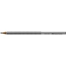 FABER-CASTELL Bleistift Grip 2001 B silbergrau