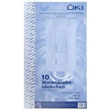 ÖKI Mustersack 10 Stück 240 x 420 + 50 mm 110 g/m² mit Aufdruck weiß