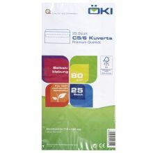 ÖKI Kuvert 25 Stück C5/6 mit Haftklebestreifen weiß