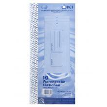 ÖKI Mustersack 10 Stück 145 x 335 + 55 mm 110 g/m² mit Aufdruck weiß