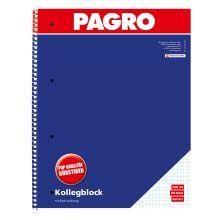 PAGRO Collegeblock A4 80 Blatt kariert 2 Stück