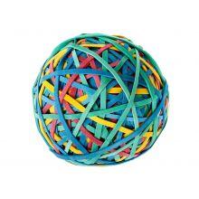 ALCO Rubberball 320 Stück Ø 50 mm farbig sortiert