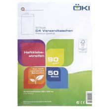 ÖKI Versandtasche Classic C4T-ÖF/CLA90 50 Stück DIN C4 mit Haftstreifen ohne Fenster 90g/m² weiß