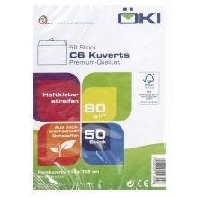 ÖKI Kuvert Classic C6-ÖF/CLA80 50 Stück C6 mit Haftstreifen ohne Fenster 80 g/m² weiß