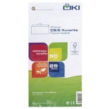 ÖKI Kuvert Classic C6/5-ÖF/CLA80 25 Stück DIN C6/5 mit Haftstreifen ohne Fenster 80 g/m² weiß