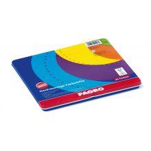 PAGRO Dickkernbuntstifte 24 Stück im Etui 3,8 mm mehrere Farben
