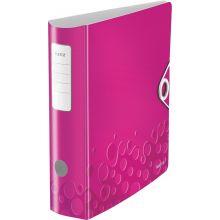 LEITZ Ordner WOW 1106 A4 8,2 cm pink-metallic