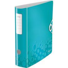 LEITZ Ordner WOW 1106 A4 8,2 cm eisblau-metallic