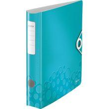 LEITZ Ordner WOW 1107 A4 6,5 cm eisblau-metallic
