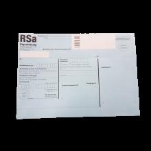 RSa-Etikett RECO maschinenfähig Porto-optimiertes Etikett für RSa Briefe