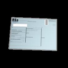 RSa-Etikett maschinenfähig Porto-optimiertes Etikett für RSa Briefe