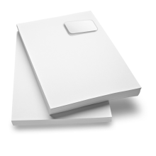 Briefpapier mit Selbstklebe-Etikett zum selbst-bedrucken
