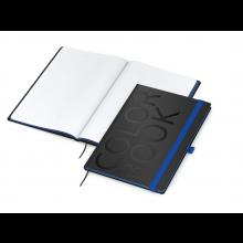 Color-Book A4 mittelblau Business-Notizbuch mit Farbschnitt