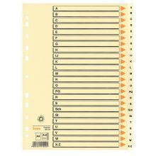 BENE Register 93408 A4 Karton A-Z 24-teilig chamois